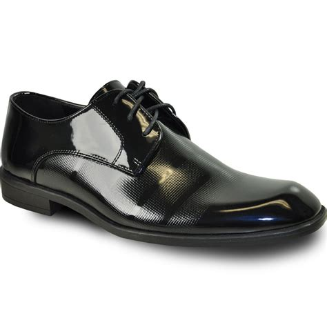Men Dress Shoe Rockefeller Oxford Formal Tuxedo Black Patent - Wide Width Available