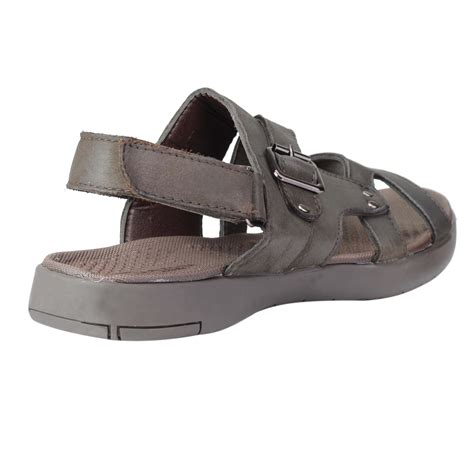 Men Soft Footbed Leather Sandals Comfortable Open Toe Walking Shoes for Summer Outdoor