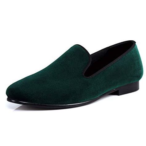 Men Velvet Slippers Plain Handmade Slip-on Loafer Shoes