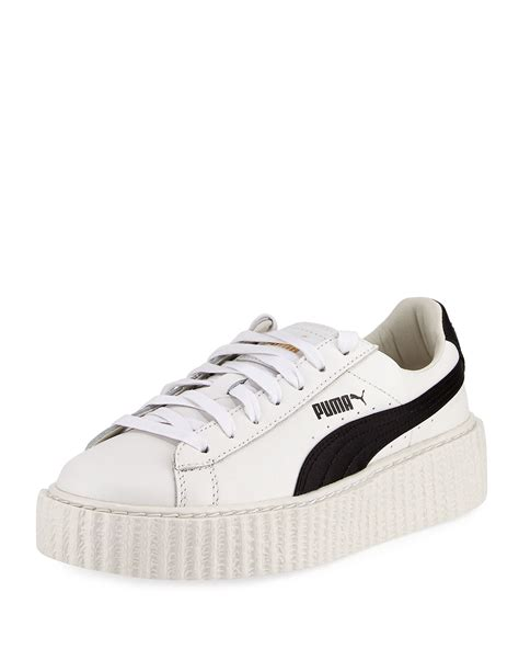 Men White Rihanna Puma Sneakers