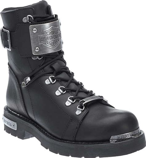 Men's Sewell Black Leather Motorcycle Boots D96125