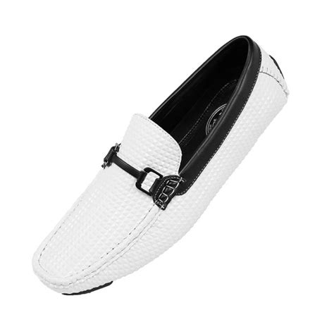 Men's Studded Embossed Driver with Matte Black Buckle, Nightclub Loafer Driving Shoe, Style Mert