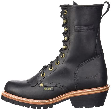 Men's 1964 10' Fireman Logger Black Work Boot