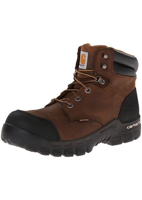 Men's 6' Rugged Flex Waterproof Breathable Composite Toe Leather Work Boot