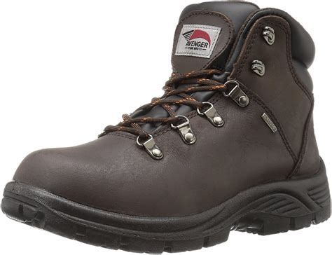 Men's 7625 Leather Waterproof Soft Toe EH Work Boot Industrial and Construction Shoe