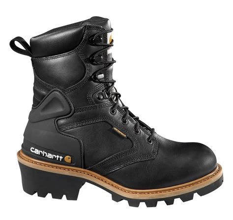 Men's 8 Inch Chocolate Oiled Waterproof Logger Boot
