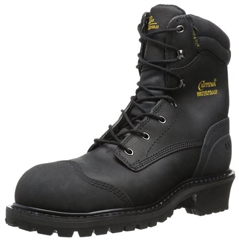 Men's 8 Inch Oiled Waterproof Comp Rubber Toe Logger Boot