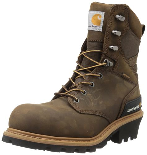Men's 8' Waterproof Composite Toe Leather Logger Boot CML8360
