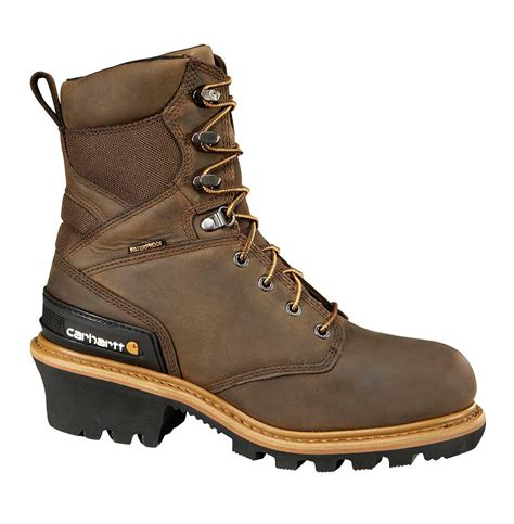 Men's 8' Waterproof Composite Toe Leather Logger Boot CML8369