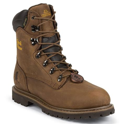 Men's 8' Waterproof Insulated Steel Toe 55069 Lace Up Boot