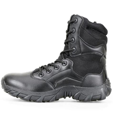 Men's 8'' Military Tactical Boots Outdoor Water Resistant Boots with Zipper
