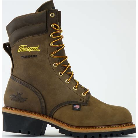 Men's 9-Inch Steel-Toe Logger Boot