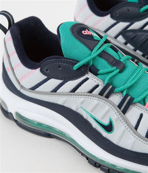 Men's Air Max 98 Shoe Pure Platinum/Obsidian/Green