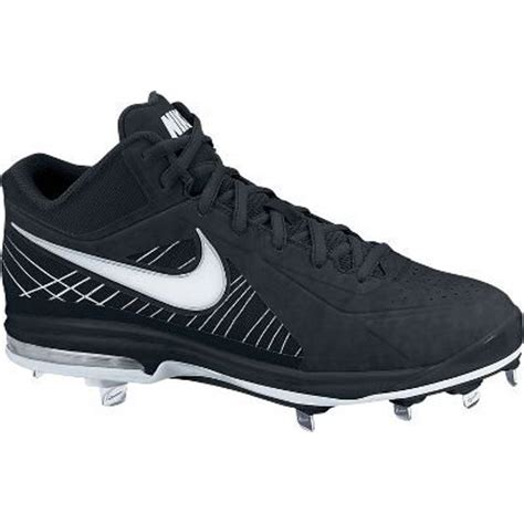 Men's Air Max MVP Elite 3/4 Metal Baseball Cleats (Black/White, 12 D(M) US)