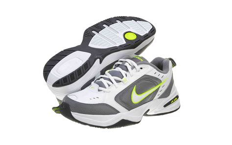 Men's Air Monarch IV White/White/Cool Grey/Volt Training Shoe 13 Men US