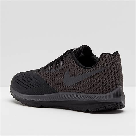 Men's Air Zoom Winflo 4 Running Shoe, Anthracite/Dark Grey-Black 10.5