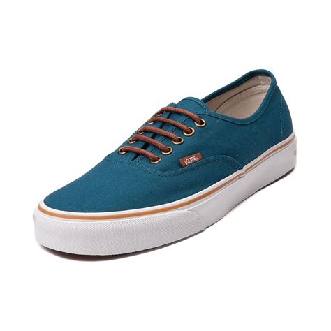 Men's Authentic Moroccan Blue/Tortoise Shell Skateboarding Shoes