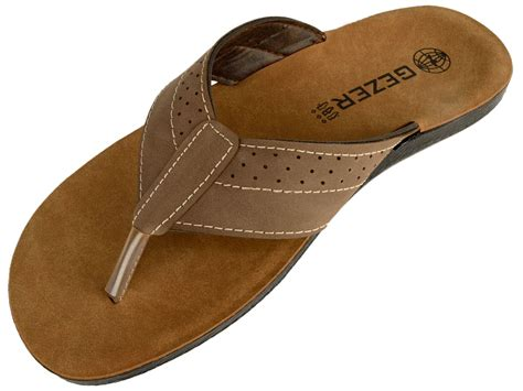 Men's Beach Shoes Leisure Flip Flops Slippers Leather Sandals