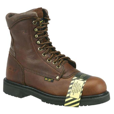 Men's Brown CA6586 Steel Toe 8' Work Boot