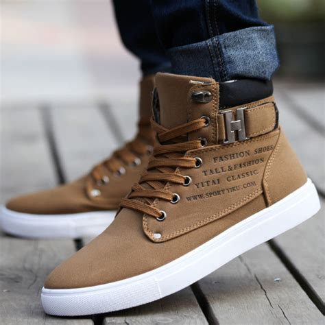 Men's Canvas Leather Fashion Sneakers Shoes