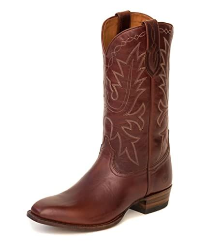 Men's Carson County Brown Cowboy Boot with Walking Heel