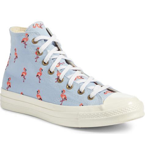 Men's Chuck Taylor All Star Sneakers With Flamingo Embroidery