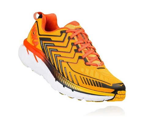 Men's Clifton 4 Saffron/Red Orange Running Shoe 8.5 Men US