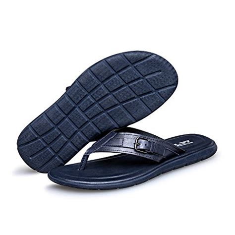 Men's Comfortable Summer Beach Leather Sandal Walk flip flops