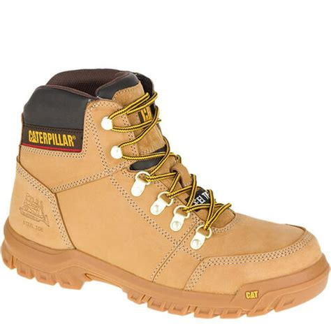 Men's Composite Toe Leather Insulated Construction Windproof Non-slip Worker Boots