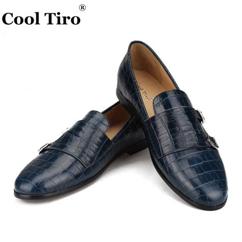 Men's Croco Print Moccasin Loafers