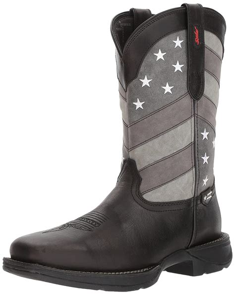 Men's DDB0125 Western Boot, Black Charcoal Grey, 8.5 M US