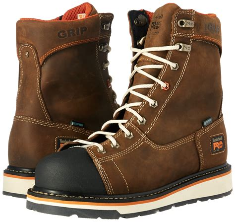 Men's Detroit 8' Soft Toe Waterproof Industrial and Construction Shoe