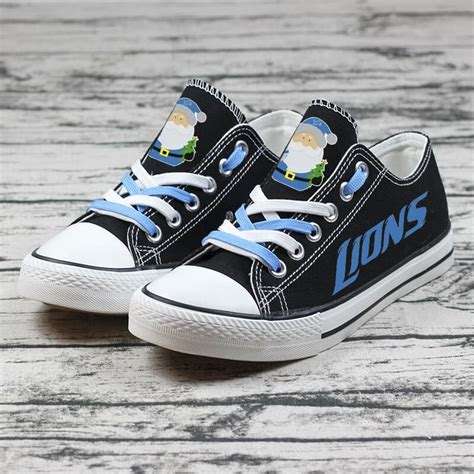 Men's Detroit Football Custom Fan Made Low Top Canvas Shoes