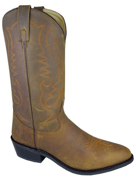 Men's Distressed Denver Cowboy Boot Round Toe - 4034