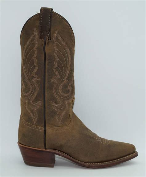 Men's Distressed Leather Cowboy Boot Snip Toe - 6436