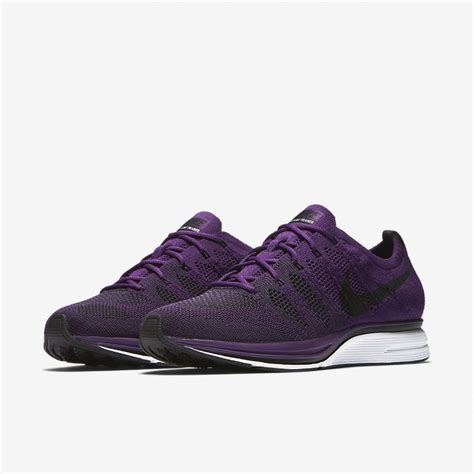 Men's Flyknit Trainer, Night Purple/Black/White