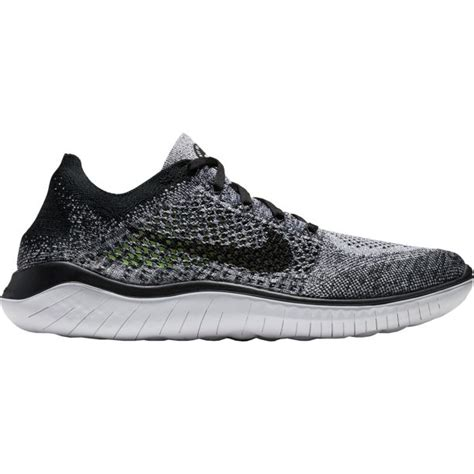 Men's Free RN 2018 White Black Training Shoes (10.5 D US)