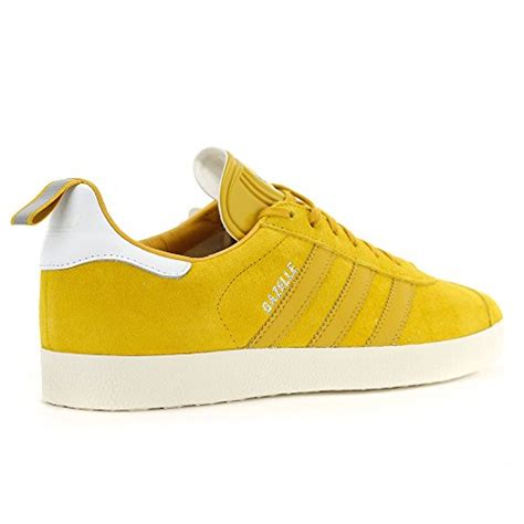Men's Gazelle Yellow Leather Ostrich Pack Shoes S76223