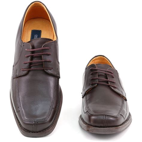 Men's Genuine Leather Dress Formal Shoes Striped Lace Up Oxfords Loafers