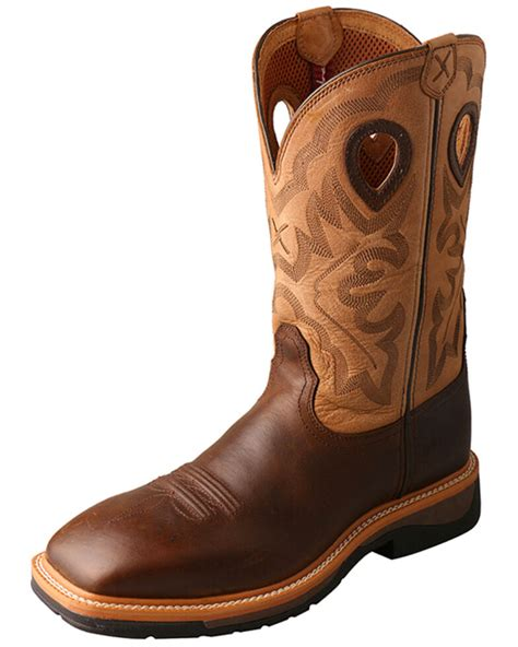 Men's Hazel Lite Weight Cowboy Work Boot Steel Toe - Mlcs019