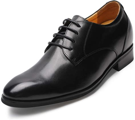 Men's Height Increasing Oxfords Leather Formal Dress Shoes Taller 2.96'' DX70H106S
