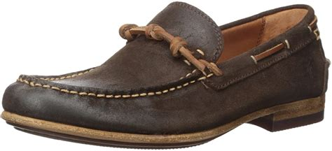 Men's Henry Knotted Boat Shoe, Dark Brown, 7 D US