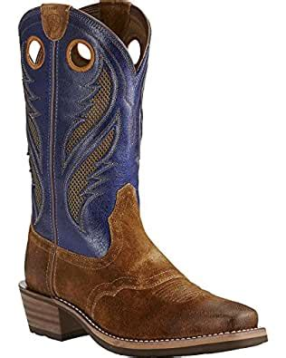Men's Heritage Roughstock Venttek Western Cowboy Boot, Antique Mocha Suede, 10.5 2E US