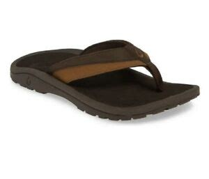 Men's Kipi Flip Flop,Dark Wood,US 14 M