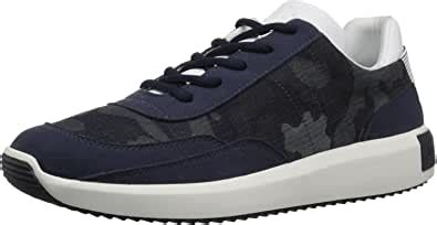 Men's Lace up Low Top with Contrast Textures and Visible Stitch Detail Sneaker