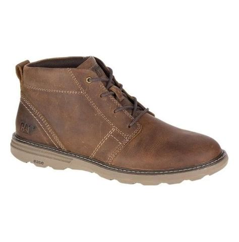 Men's Leather Lace-Up Cushioned Casual Outdoors Boot