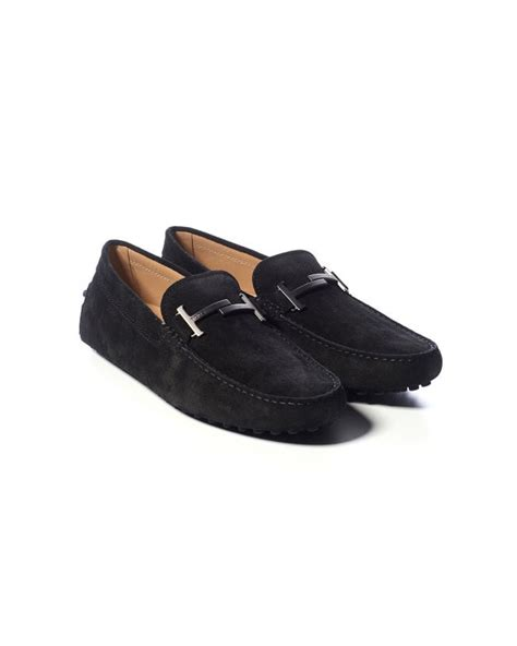 Men's Leather Loafers Moccasins City Gommino Black