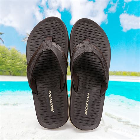 Men's Leather Summer Flip Flops Thong Sandals