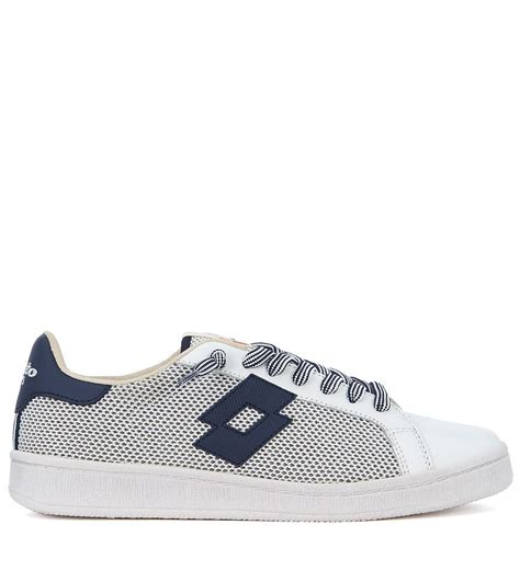 Men's Leggenda Autograph Blue and White Leather and Mesh Sneaker