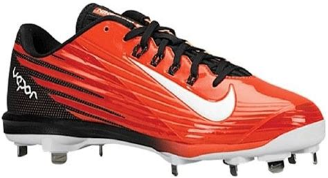 Men's Lunar Vapor Pro Orange/Black Baseball Cleats 683895 810 size 9
